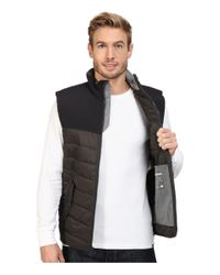 Woolrich - Gray Wool Loft Insulated Vest for Men - Lyst