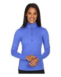 Spyder - Blue Shimmer Bug Velour Fleece T-neck Top - Lyst