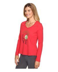 Life Is Good. - Red Love Ornament Sleep Vee - Lyst