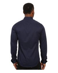 Scotch & Soda - Blue Washed Shirt In Cotton Twill Quality for Men - Lyst