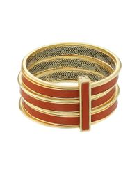 House of Harlow 1960 - Metallic The Titaness Leather Bangle - Lyst