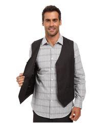 Perry Ellis - Blue Tonal Micro Check Suit Vest for Men - Lyst
