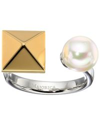 Majorica - White Why Not? Two-tone Ring - Lyst