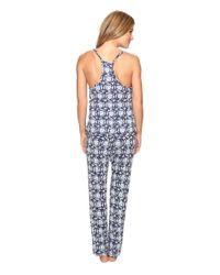 Lucky Brand | Blue Crochet Inserts Cami Pajama Set | Lyst