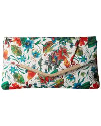 Jessica Mcclintock | Green Arielle Tropical Floral Envelope Clutch | Lyst