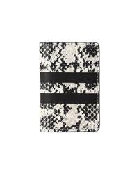 COACH | Black Python Stripe Card Wallet | Lyst