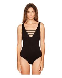 Lucy Love - Black Scoop Bodysuit - Lyst
