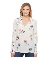 Equipment - White Bristol Floral-print Silk Blouse - Size M - Lyst
