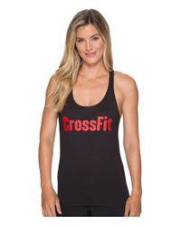 Reebok - Black Crossfit® Forging Elite Fitness Tank - Lyst