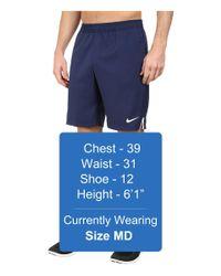 """Nike - Blue Court 9"""" Short for Men - Lyst"""