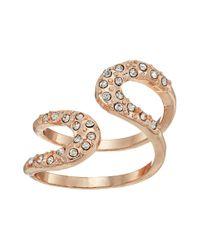 Guess - Metallic Pave Loop Wrap Ring - Lyst