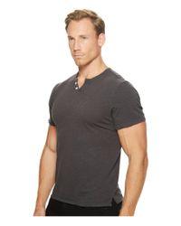 Joe's Jeans - Gray Wintz Short Sleeve Slub Henley for Men - Lyst