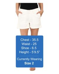 Dylan By True Grit - White Effortless Stretch Cotton Classic Cargo Shorts - Lyst