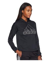 Adidas - Black Team Issue Pullover Hoodie - Lyst