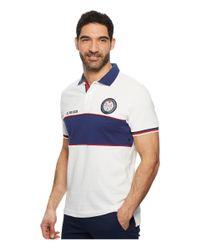 U.S. POLO ASSN. - White Chest Stripe Pique Polo Shirt for Men - Lyst