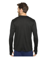 Adidas - Black Response Long Sleeve Tee for Men - Lyst