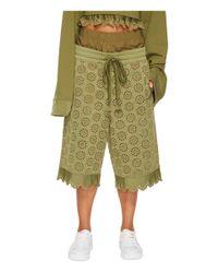 PUMA - Green Fenty Embroidered Long Shorts - Lyst