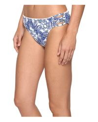 Bleu Rod Beattie - Blue Driving Miss Paisley Lattice Side Hipster Bottom - Lyst