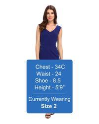 Laundry by Shelli Segal - Blue Modern Seamed Crepe Dress - Lyst