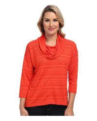 Jones New York | Red Easy Cowl Neck Pullover | Lyst