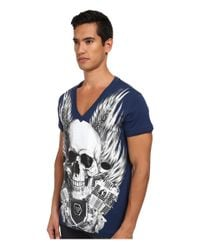Philipp Plein - Blue Captain T-shirt for Men - Lyst