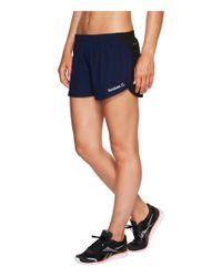 Reebok - Blue Spartan Woven Shorts - Lyst