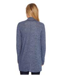 Mod-o-doc - Blue Lightweight Heather Sweater Knit Princess Seamed Cardigan - Lyst