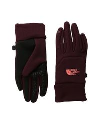The North Face - Red Etip Hardface Gloves - Lyst