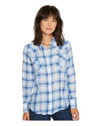 Stetson - Blue 1070 Skye Plaid Long Sleeve Western Shirt - Lyst