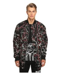 Haculla - Black One Of A Kind Bloodwork Drop Sleeve Bomber for Men - Lyst