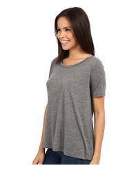 Alternative Apparel - Gray Melange Jersey Boxy T-shirt - Lyst