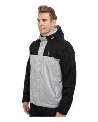 U.S. POLO ASSN. - Black Color Block Coat W/ Fleece Lining for Men - Lyst
