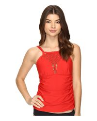 Athena - Red Cabana Solids Capri Tankini - Lyst