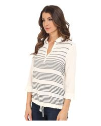 Mavi Jeans - White Striped Blouse - Lyst