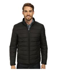 Vince Camuto - Black Cotton Coated Reversible To Quilted Down Jacket for Men - Lyst