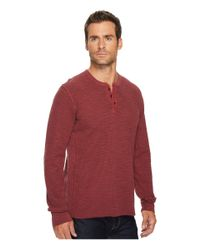 Lucky Brand - Red Lived In Thermal Henley for Men - Lyst