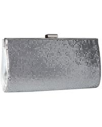 Jessica Mcclintock - Metallic Bailey Quilted Framed Clutch - Lyst