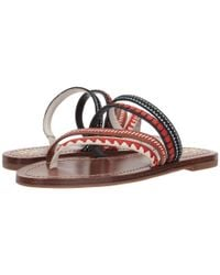 Tory Burch - Multicolor Patos Embroidered Sandal - Lyst
