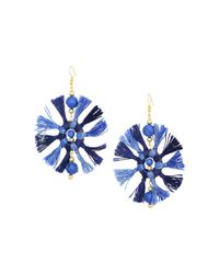 Kenneth Jay Lane - Two-tone Navy/light Blue Multi Tassel Fishhook Earrings - Lyst