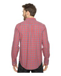 Lucky Brand - Red Washed Black Label Shirt for Men - Lyst