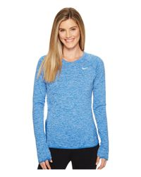 Nike | Blue Therma Sphere Element Crew Running Top | Lyst