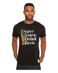 The Original Retro Brand - Black Save Water Drink Beer Short Sleeve Vintage Cotton Tee for Men - Lyst