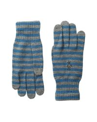 Smartwool - Blue Striped Liner Glove - Lyst