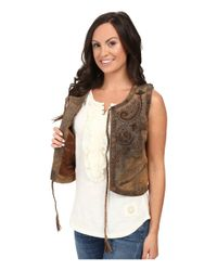 Double D Ranchwear - Brown Bianchi Saddle Bag Vest - Lyst