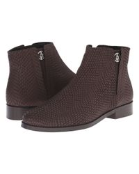 Armani Jeans - Brown Lizzard Printed Bootie - Lyst