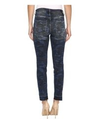 Jag Jeans - Blue Rochelle Slim Ankle Jeans In Camo Denim - Lyst