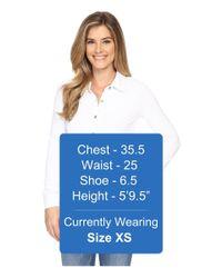 Mod-o-doc - White Slub Jersey Long Sleeve Button Front Tunic - Lyst