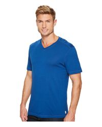 Agave - Blue Cory Short Sleeve V-neck Tee for Men - Lyst