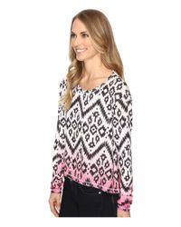 Roper - White 0612 Sweater Jersey Crop Shirt - Lyst