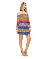 Nicole Miller - Blue La Plage By Cleo Smock Waist Dress - Lyst